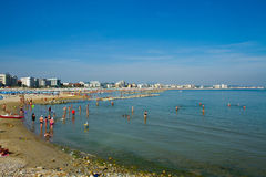 Coast and beach of Cattolica on riviera romagnola, Italy Stock Images