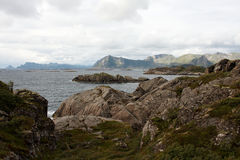 Coast Beach. On Lofoten islands in Norway Stock Photography