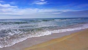 Coast beach with sea waves. Sunny paradise resort. Coast beach with sea waves. Sunny paradise resort stock footage