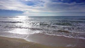 Coast beach with sea waves. Sunny paradise resort. Coast beach with sea waves. Sunny paradise resort stock video