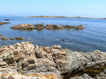 Coast and beaches of northeast Sardinia Stock Photo
