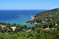 The coast of Begur, in the Costa Brava, Catalonia, Spain. A view of the Mediterranean sea and the coast of Begur, in the Costa Brava, Catalonia, Spain Stock Image