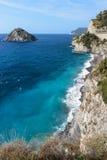 The coast of Bergeggi Stock Image