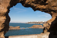 Coast of Biarritz Royalty Free Stock Image