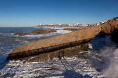 Coast of Biarritz Stock Images