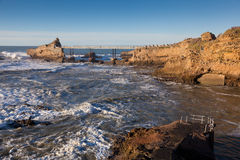 Coast of Biarritz. Aquitaine, France Stock Photography