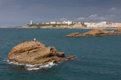 Coast of Biarritz Royalty Free Stock Images