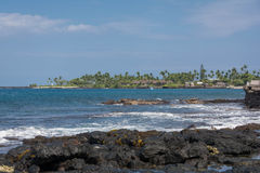 The coast of Big Island, Hawaii. A view of the coast of Big Island from Kona, Hawaii Royalty Free Stock Photos