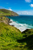 Coast with Big Waves at Slea Head in Ireland Royalty Free Stock Image