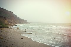 Coast of Black sea early in the morning Royalty Free Stock Photography