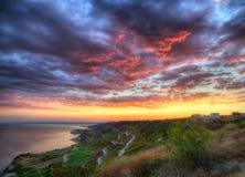 Coast of Black sea near Kavarna, Bulgaria - Resort Thracian cliffs Stock Photo