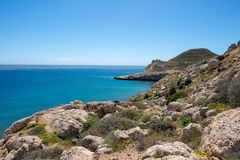 The coast in the blacks of almeria. Spain Royalty Free Stock Images