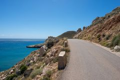 The coast in the blacks of almeria. Spain Royalty Free Stock Image
