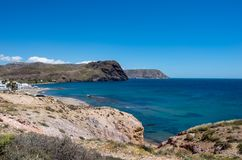 The coast in the blacks of almeria. Spain Royalty Free Stock Photos