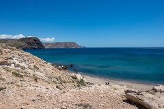The coast in the blacks of almeria. Spain Royalty Free Stock Photo