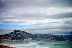 Coast of Blanes, Spain Stock Image