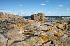 Coast at Bornholm. Stock Photo