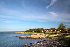 On the coast of Bornholm Stock Photos