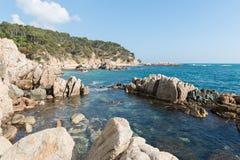 Coast Brave (Costa Brava) - Girona (Spain). Landscapes and details of the Coast Brave (Costa Brava) in Girona (Spain Stock Photo