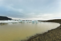 Coast of Breidarlon glacier lake, Iceland Stock Photography