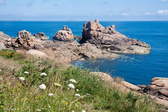 Coast of Brittany with big rocks Royalty Free Stock Photo