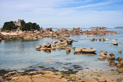 Coast of Brittany in France, near Ploumanach Royalty Free Stock Photo