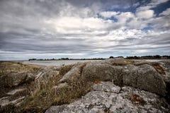 Coast in Brittany France near Sillon de Talbert Stock Photo