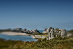 Coast in Brittany France near Sillon de Talbert Royalty Free Stock Images