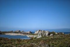Coast in Brittany France near Sillon de Talbert Stock Photos