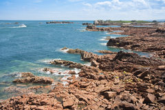Coast of Brittany in summertime by ebbtide Royalty Free Stock Photos