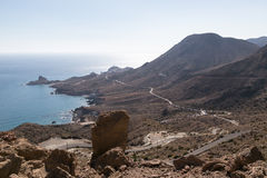 Coast of Cabo de Gata Royalty Free Stock Photography