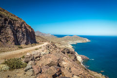 Coast at Cabo del Gata, Almeria, Spain Stock Images