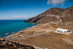 Coast of cabo the gata. Almeria, Spain Royalty Free Stock Image