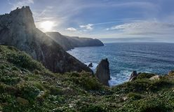 Coast from Cabo Ortegal stock photography