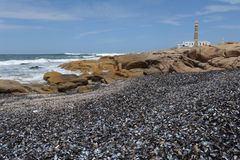 The coast at Cabo Polonio Stock Photography
