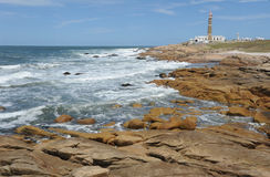 The coast at Cabo Polonio Stock Image
