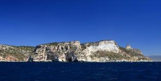 Coast of Cagliari. In Sardinia, particolar of Sella del Diavolo Stock Photo