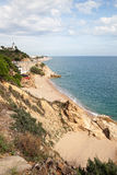 Coast at Calella city, Catalonia, Spain. Royalty Free Stock Photography