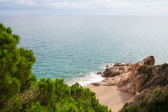 Coast at Callelle city, Catalonia, Spain. Royalty Free Stock Photography