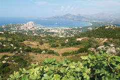 The  coast of Calvi on Corsica island Royalty Free Stock Image