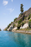 Coast of the Canal of Corinth in Greece. Stock Photos