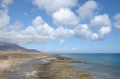 Coast on Canary Island Fuerteventura Royalty Free Stock Images