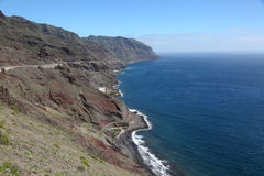 Coast of Canary Island Tenerife Royalty Free Stock Photography