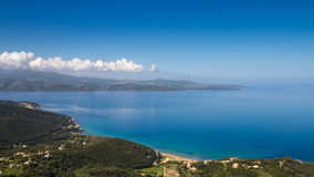 Coast of Cap Corse and Desert des Agriates in Corsica Stock Photos