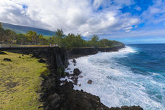 Coast of Cap Mechant place at Reunion Island Royalty Free Stock Photography