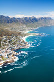 Coast of Cape Town. Aerial view of coast of Cape Town, South Africa Royalty Free Stock Image