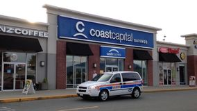 Coast capital savings bank in Pitt Meadows Canada. It is Canada's largest credit union by membership stock footage