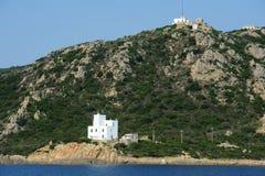 The coast at Capo Comino on the island of Sardinia Royalty Free Stock Photos