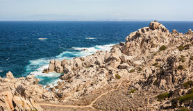 Coast of capo testa - sardinia, italy Royalty Free Stock Photos