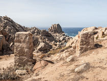 Coast of capo testa - sardinia, italy Royalty Free Stock Photography